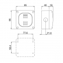 137.5311B - vodotěsné tlačítko 10A ZVONEC s krabicí, série Protecta IP66