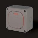137.5311P - vodotěsné tlačítko 10A STLAČ s krabicí, série Protecta IP66