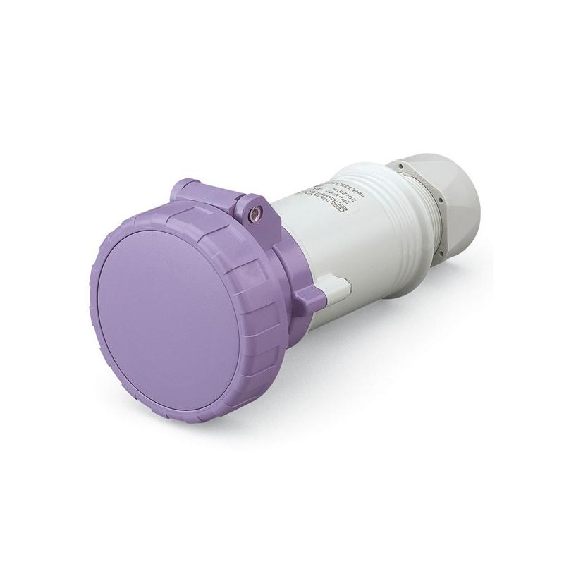 335.1605 Zásuvka SCAME 24V/16A dvoupólová kabelová IEC309