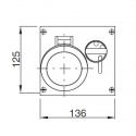 400.3287 Zásuvka na zámek 400V/32A pětipólová blokační vestavná OMNIA
