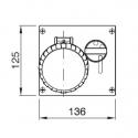 405.1686 Zásuvka na zámek 400V/16A čtyřpólová blokační vestavná OMNIA