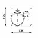 405.3283 Zásuvka na zámek 230V/32A třípólová blokační vestavná OMNIA