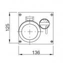 500.1686 Zásuvka na zámek 400V/16A čtyřpólová blokační nástěnná OMNIA