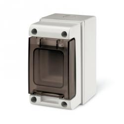 672.2002 - rozvaděčová skříň na zeď DOMINO IP66 - 2 DIN (bez svorkovnic)