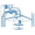 Aero 100 - koupelnový ventilátor v základním provedení
