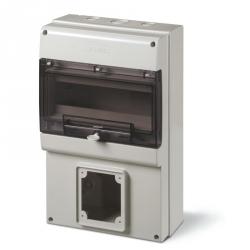 672.3302 - zásuvková skříň DOMINO IP66 - 12 DIN, 1x otvor pro 63A OPTIMA