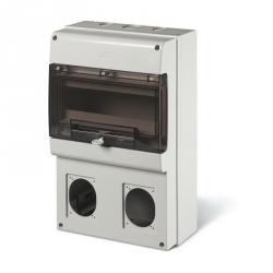 672.3300 - zásuvková skříň DOMINO IP66 - 12 DIN, 2x otvor pro 16/32A OPTIMA