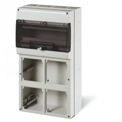 672.5416 - zásuvková skříň DOMINO IP66 - 16 DIN, 4x otvor pro OMNIA