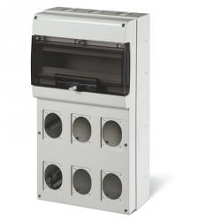 672.5616 - zásuvková skříň DOMINO IP66 - 16 DIN, 6x otvor pro 16/32A OPTIMA