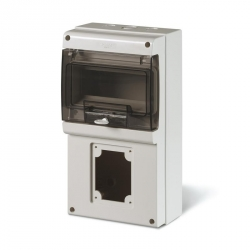 672.2301 - zásuvková skříň DOMINO IP66 - 8 DIN, 1x otvor pro 32A OPTIMA