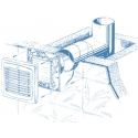 Auto 125T - ventilátor s automatickou žaluzií a časovačem