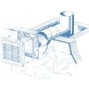 Auto 150S - ventilátor s automatickou žaluzií a tahovým spínačem