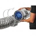 Turbo-E 100T - dvourychlostní průmyslový potrubní ventilátor s časovačem