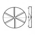 KO 100 - zpětná klapka k domovním ventilátorům BLAUBERG