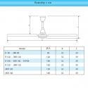 OASIS R 150 - stropní ventilátor o průměru 150cm
