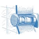 Kulatá plastová mřížka DECOR 125